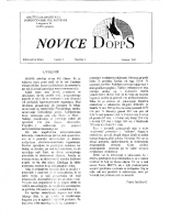 Novice DOPPS (let. 1, št. 1, februar 1995)
