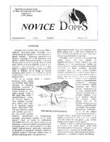 Novice DOPPS (let. 1, št. 5, oktober 1995)
