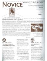 Novice DOPPS (let. 5, št. 4, avgust 1999)