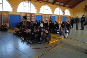 Obiskovalci zaključne predstavitve dela na taboru. foto: Mojca Podletnik