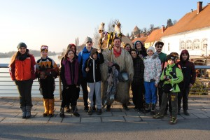 Ogledali smo si tudi Ptujski karneval in vsem znane kurente. foto: Mojca Podletnik
