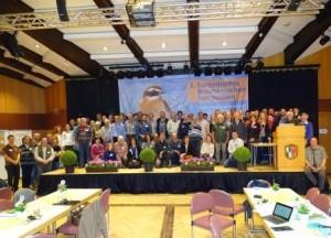 Na prvem simpoziju o repaljščici se so se zbrali strokovnjaki ornitologi, varstveni biologi in kmetijci 18 evropskih držav, foto: arhiv DOPPS
