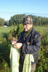 Nasledni dan, v soboto, 9. septembra smo za širšo javnost pripavili dan odprtih vrat. Franci Bračko je predstavil obročkanje ptic.