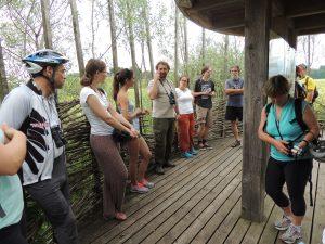 Ogled osrednje opazovalnice v Naravnem rezervatu Iški morost. foto: Manca Velkavrh