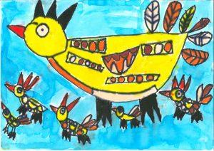 Ptice v letu, Nik Pečanac, Vrtec Otona Župančiča, enota Mehurčki