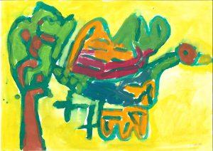 Ptička iz rožnatega grička, Katarina Cimerman, Vrtec Tezno, enota Mehurčki