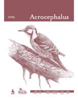 Acrocephalus, 2015, letnik 36, številka 164-165