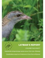 2007, Vzpostavitev dolgoročnega varstva kosca v Sloveniji: Layman's report