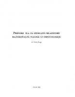2008, Priporočila za izdelavo mladinske raziskovalne naloge iz ornitologije