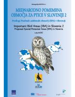 2003, Mednarodno pomembna območja za ptice v Sloveniji 2