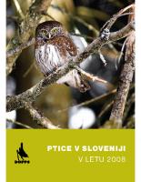 2009, Ptice v Sloveniji v letu 2008, letno poročilo VOS DOPPS