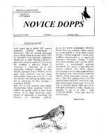 Novice DOPPS (let. 0, št. 0, oktober 1994)