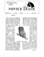Novice DOPPS (let. 2, št. 2, oktober 1996)