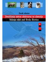 2004, Zbornik referatov Umeščanje vetrne elektrarne na območje Volovje rebri