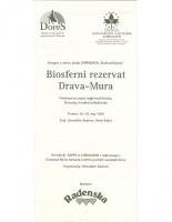 1996, Biosferni rezervat Drava-Mura, kongres Radenci