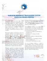 2001, Naravni rezervat Škocjanski zatok:Oaza na pragu Kopra