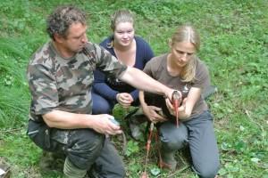 Raziskovalci iz DOPPS so ptico ujeli v okviru raziskav ekologije črne štorklje ob reki Muri.