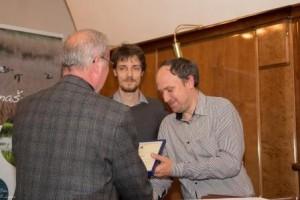 Nagrado Zlati legat 2013 so prejeli Davorin Tome, Al Vrezec in Dejan Bordjan, avtorji knjige Ptice Ljubljane in okolice, foto: Peter Legiša