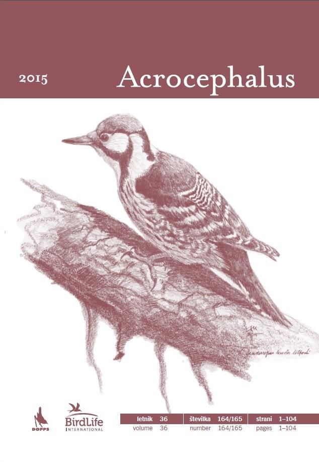 Izšla je številka 164/165 društvene revije Acrocephalus