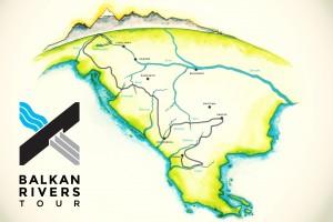 Mapa poti Balkan Rivers Toura  ©Ajda Primožič in Dalibor Kazija