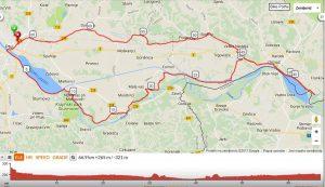 Zemljevid poti, ki smo jo opravili na kolesarskem izletu.