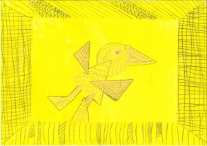 Ptica, Meta Besedič, Vrtec Otona Župančiča, enota Oblakova