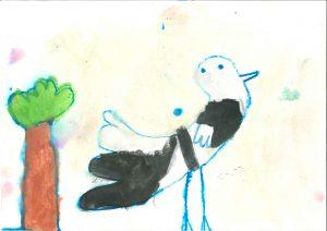 Ptička iz rožnatega grička, Adriana Garača Lazič, Vrtec Tezno, enota Mehurčki