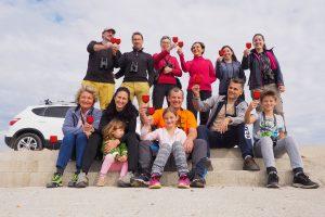 Udeleženci izleta pri Vrbini na Dolenjskem. Foto: Gregor Bernard