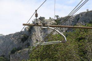 Usodni steber električne napeljave. Foto: Tomaž Mihelič